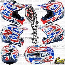 Troy Lee Designs 2016 SE3 Medium M Helmet Reflection White Blue Motocross Enduro