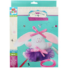 Anker Kids Create My Ballerina Bunny Sewing, Plastic, Assorted Colour, Kids Kit