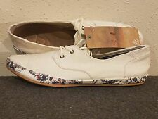 Reef Escape RF-008125CRE Cream Printed Cotton Textile Flat Shoes  9  Womens