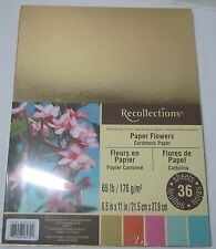 """Recollections Cardstock Paper 8 1/2"""" x 11"""" 36 Sheets gold bright PAPER FLOWERS"""