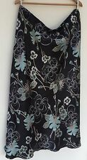 Pretty Ann Harvey Floral Black and Mint Skirt Size 22