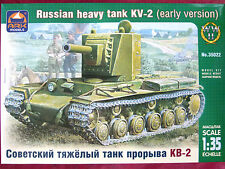 Ark Models 1:35 KV-2 Early Version WWII Russian Heavy Tank Model Kit