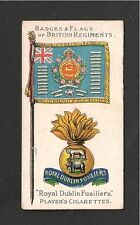 ROYAL DUBLIN FUSILIERS Flag & Badge The DUBS The Blue Caps 1903 original card
