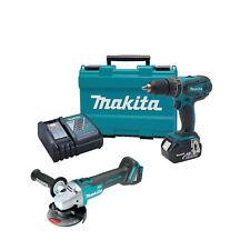 """Makita XPH012 18V Cordless 1/2"""" Hammer Drill Driver, XAG03Z Brushless Grinder"""
