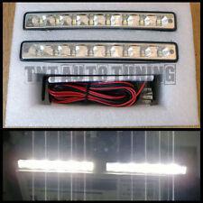 2 x 4W 8 LED Tagfahrlicht Tagfahrleuchten TFL DRL 6000K 12V E4 Universal 15,5cm