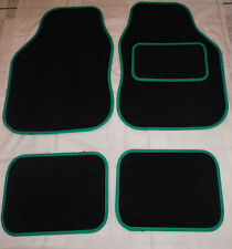 Car Mats Black and Green trim mats for VW beetle Golf Polo Bora Passat Lupo