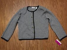 Liz Claiborne Collection Checks Button Up Long Sleeve Jacket Women L **NWT**