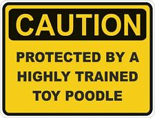 Dog Breed Toy Poodle Caution Sticker Pet for Bumper Car Door Locker