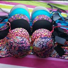 34B EXTREME PUSH UP STRAPLESS BRAS 6 PACK WHOLESALE MULTICOLOR ADD 2 CUP SIZES