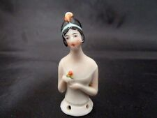 Vintage Art Deco Flapper Porcelain Pincushion Head / Half Doll Germany No. 5333