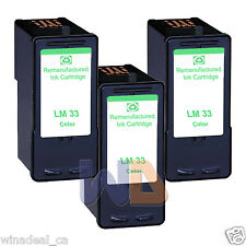 3 Color Lexmark 33 Ink Cartridge For X3330 X5250 X5450 X3350 X5270 X5470 Printer