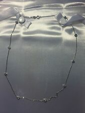 Brand New 18k White Gold 1.0ct Diamonds By The Yard Necklace -
