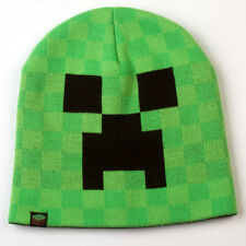 Official Licensed Minecraft Creeper Face Green Beanie Cap Hat Small/Medium S/M