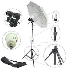 DynaSun MM2KIT90 2in1 Lampenfassung Studio Set Licht mit Stativ Schirm 2x Blitz