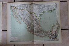 Ancienne carte Atlas universel Géographie - 1919 - N°67 - Mexique - Hachette