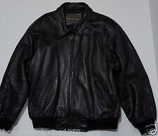 South Wind Black Mens Vintage Leather Jacket Coat Large