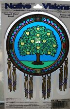 Sacred Tree Native American Stained Glass Visions Window Sticker Decal Wiccan