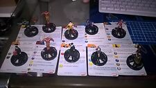 10 x Iron Man Collection Marvel Heroclix Invincible Iron man ,Iron Man 3, Chaos