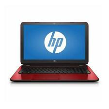 "NEW Refurbished HP Flyer Red 15.6"" 15-f272wm Laptop PC with Intel Pentium N3540"