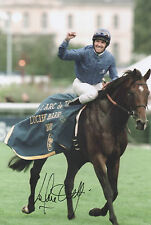 FRANKIE DETTORI Signed 10x8 Photo CHAMPION JOCKEY Horse Racing COA