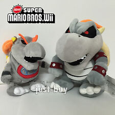 2X Super Mario 3D Land Baby Dry Bowser Jr. Bones Plush Soft Toy Doll Teddy 11""