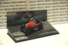 VOITURE OPEL COLLECTION N°119 OPEL 4/12 PS LAUBFROSCH 1924 IXO EAGLE MOSS 1/43