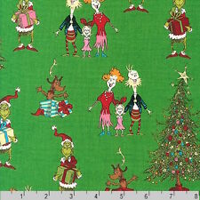Dr Seuss How The Grinch Stole Christmas 5 Holiday Green Fabric