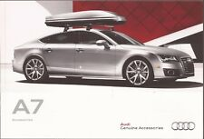 2012 12 Audi  A7  Accessories original sales  brochure  MINT