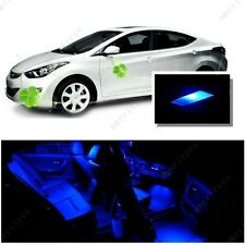 For Hyundai Elantra 2011-2012 Blue LED Interior Kit + Blue License Light LED