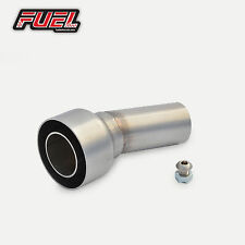 "Race Can Removable Baffle DB Noise Killer 2"" 51mm Angled Outlet Exhaust Silencer"
