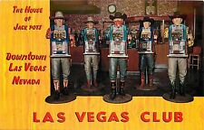 Unposted Chrome PC Old Las Vegas Club Slot Machines in Cowboy Statues NV