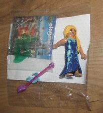 Playmobil Figure Queen tooth Fairy long magic wand wings flower long blond hair