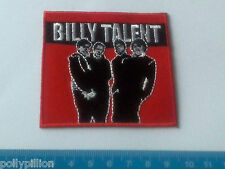PUNK ROCK HEAVY METAL MUSIC SEW ON / IRON ON PATCH:- BILLY TALENT CANADIAN PUNK