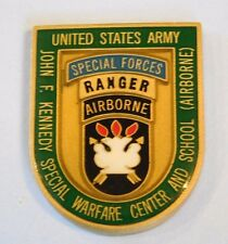 John F. Kennedy Warfare Special Forces Ranger Airborn Commander Challenge Coin
