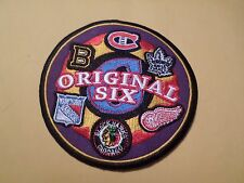 "AWESOME NHL ORIGINAL SIX 4"" IRON ON PATCH BRUINS, BLACK HAWKS, RED WINGS ++"