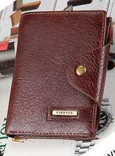 New Brown Men's Wallet Leather Guaranteed Quality Leather purse with coin pocket