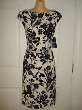 American Living Wear to Work Cap Sleeve Floral Print Sheath Dress Sz 10