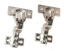 "2 PK 1-3/4"" CC Concealed Cabinet Hinge 105° Inset Steel Base For frameless Door"