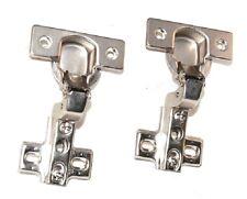 """2 PK 1-3/4"""" CC Concealed Cabinet Hinge 105° Inset Steel Base For frameless Door"""
