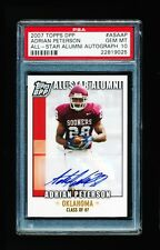 1/1 PSA 10 ADRIAN PETERSON 2007 TOPPS ALL-STAR ALUMNI AUTO *JERSEY NUMBER* 28/50