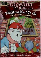 Angelina Ballerina - The Show Must Go On (DVD, 2003 Sealed) Kids Dance Animation