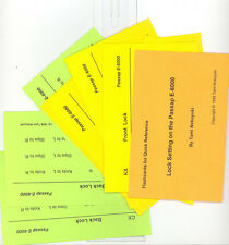 Flashcards for Quick Reference Lock Setting on the Passap E-6000 by Tami Nobuy