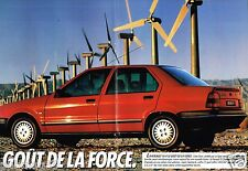 Publicité Advertising 1989 (2 pages) Renault 19 Chamade