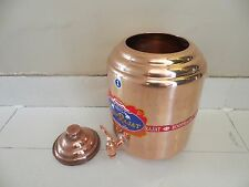AYURVEDA 1x PURE COPPER WATER DISPENSER Container Pot Health Free Ship Worldwide