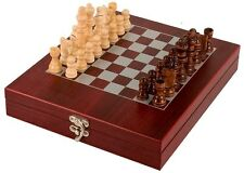 ROSEWOOD FINISH CHESS SET VERY HIGH QUALITY GIFT OR AWARD GS006 FREE ENGRAVING