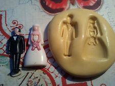 Miniature Wedding Couple Silicone Mold-for polymer clay, resin, fondant, wax,etc