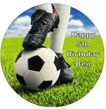 Football And Boots Personalised Cake Topper Edible Wafer Paper 7.5""