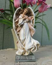 "8"" ANGEL HOLDING A KITTY CAT MEMORIAL STATUE Loving Memory of a Faithful Friend"
