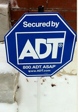 1 ADT YARD SIGN W/STAKE AND 5 DOUBLE-SIDED STICKERS FREE SHIPPING *REAL*