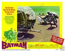 BATMAN LOBBY SCENE CARD # 5 POSTER 1966 ADAM WEST THE BATCYCLE